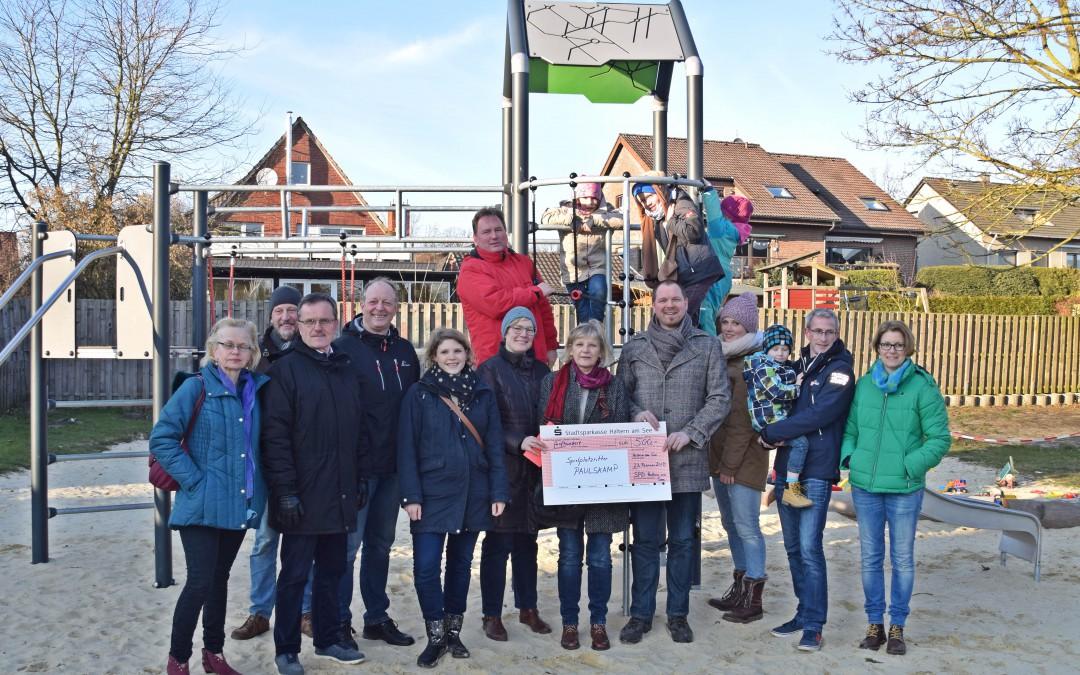 SPD-Spende für Spielplatz Paulskamp