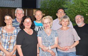 Der geschäftsführende Vorstand: (v.l.n.r:) Antje Bücker, Dieter Schmitz, Annette Böhm, Timm Diekenbrock, Petra Schwarzbich-Efsing, Stefan Cassone, Beate Pliete und Axel Stolt.